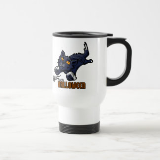 Happy Halloween Cat and Mouse Travel Mug