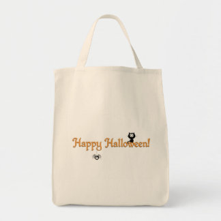 Happy Halloween! Cat and Spider Tote Bag