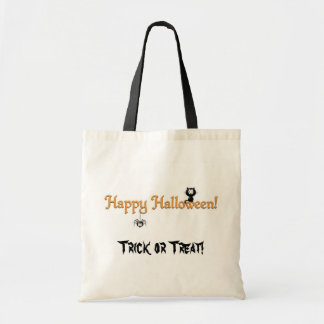 Happy Halloween-Cat and Spider/Trick or Treat! Tote Bag