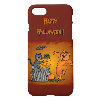 Happy Halloween! Cat Bat Dog and Spider iPhone 8/7 Case