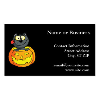 Happy Halloween Cat Business Card
