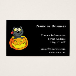Happy Halloween Cat Business Card