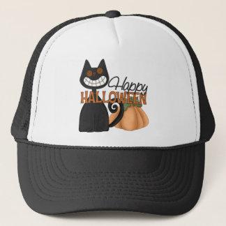 Happy Halloween Cat Hat/Cap Trucker Hat