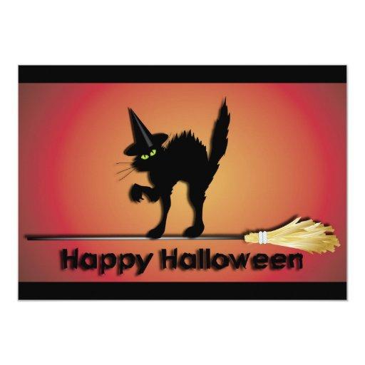 Happy Halloween Cat Invitation 13 Cm X 18 Cm Invitation Card