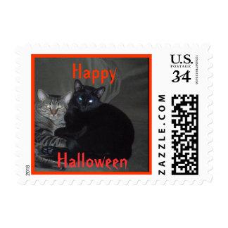 Happy Halloween Cat Postage