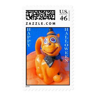 Happy Halloween Cat Stamps