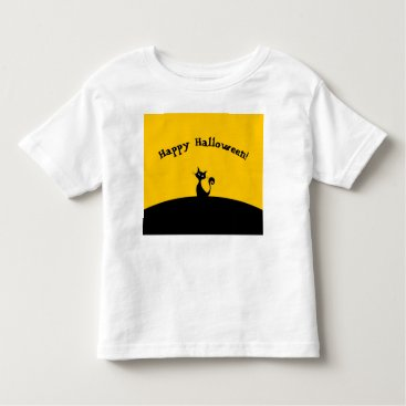 Beach Themed Happy Halloween Cat T-shirt