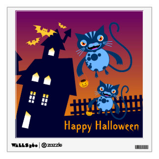 Happy Halloween Cats go trick or trick Wall Sticker