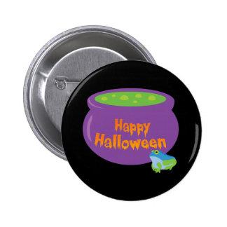 Happy Halloween Cauldron 2 Inch Round Button
