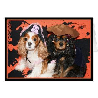 Happy Halloween Cavalier King Charles Spaniel Card