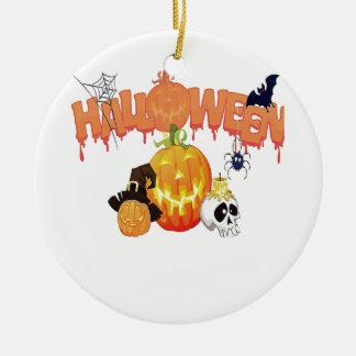 Happy Halloween Ceramic Ornament