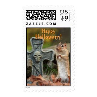 Happy Halloween Chipmunk Postage