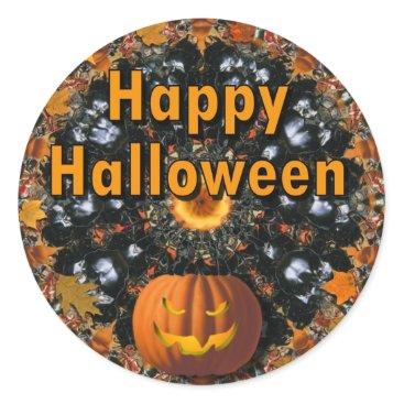 Halloween Themed Happy Halloween Classic Round Sticker