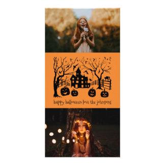 Happy Halloween Classic Spooky Scene Card