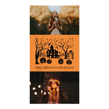 Halloween Themed Happy Halloween Classic Spooky Scene Card