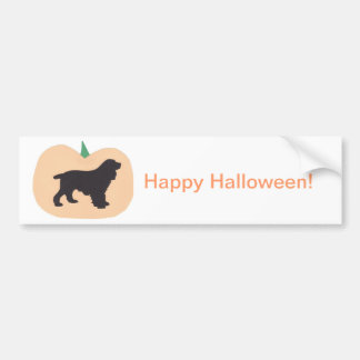Happy Halloween Cocker Spaniel Bumper Sticker