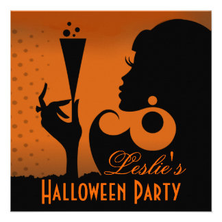 Happy Halloween Cocktail Party Custom Invitations