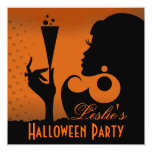 Happy Halloween Cocktail Party 5.25x5.25 Square Paper Invitation Card