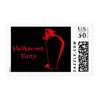 Happy Halloween Coffin grim reaper Postage