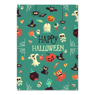 Happy Halloween  Colorful Pattern Card