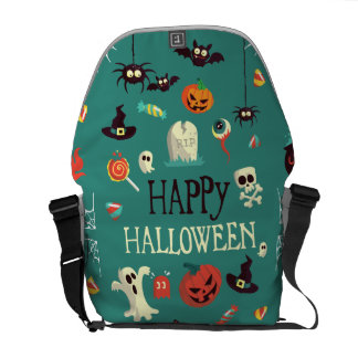Happy Halloween  Colorful Pattern Courier Bag