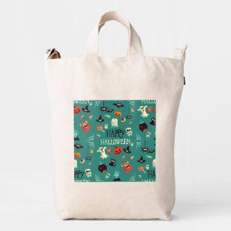 Happy Halloween  Colorful Pattern Duck Bag