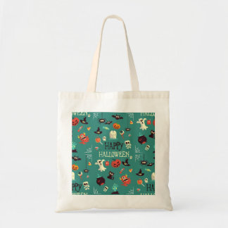Happy Halloween  Colorful Pattern Tote Bag