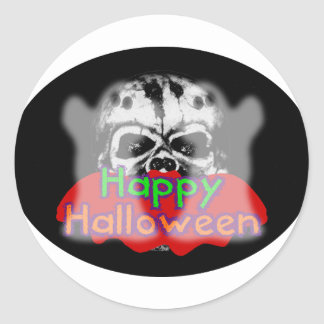 Happy Halloween Combo Classic Round Sticker