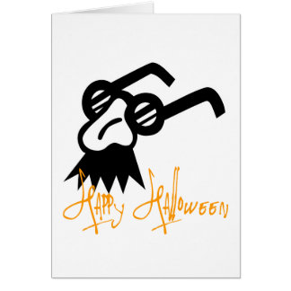 Happy Halloween Comedy Mask Card