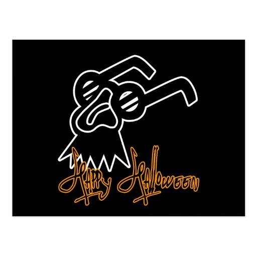 Happy Halloween Comedy Mask Postcard