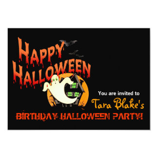 Happy Halloween Costume Party Card