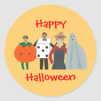 Happy Halloween Costume Stickers