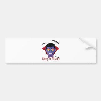 Happy Halloween Count Dracula Illustration Bumper Sticker