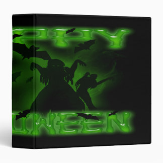 Happy Halloween Creepy Bats and Zombies  Avery Bin 3 Ring Binder