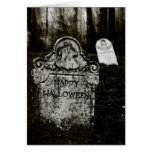 Happy Halloween Creepy Cemetery Card