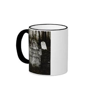 Happy Halloween Creepy Cemetery Coffee Mugs