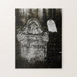 Happy Halloween Creepy Cemetery Puzzle