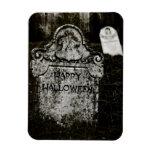 Happy Halloween Creepy Cemetery Rectangular Magnet