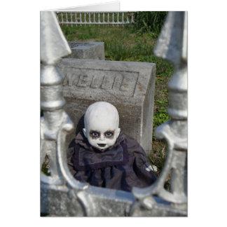 Happy Halloween Creepy Dollz Greeting Card
