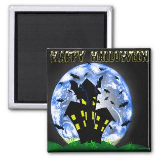 Happy Halloween Creepy Haunted House  Magnet