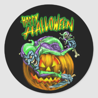 Happy Halloween Creepy JesterKin Sticker