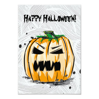 Happy Halloween creepy pumpkin Card