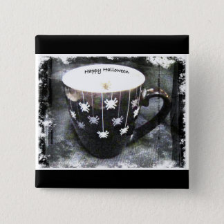 HAPPY HALLOWEEN CUP GREETING BUTTON