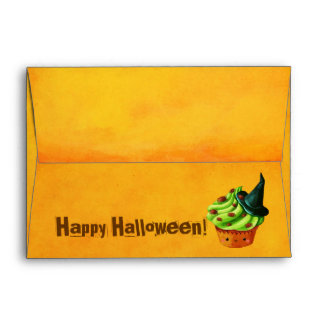 Happy Halloween Cupcake Envelope