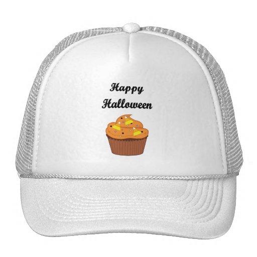 Happy Halloween Cupcake Mesh Hats