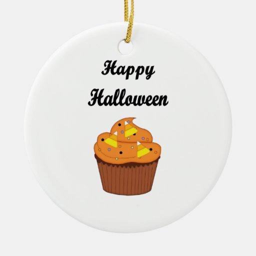 Happy Halloween Cupcake Christmas Ornament