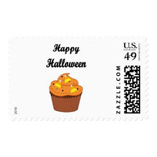 Happy Halloween Cupcake Postage