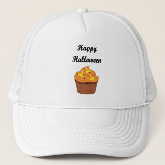 Happy Halloween Cupcake Trucker Hat