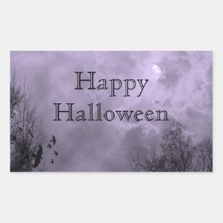 Happy Halloween Custom Haunted Sky Sticker