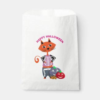 Happy Halloween Cute Cat Favor Bag